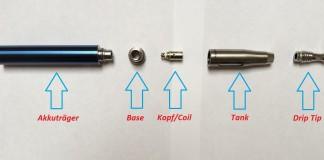 E-Zigarette Funktion/Komponenten